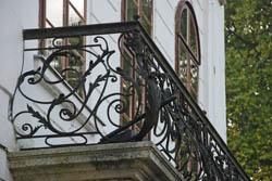 A Széchenyi-kastély erkélye