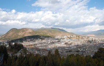 Lijiang felülnézetből